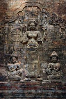 Cambodian wall