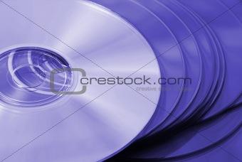 CD's in closeup