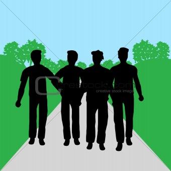 Group of people - men