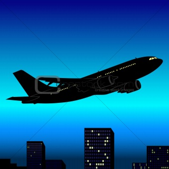 Aeroplane Silhouette 03