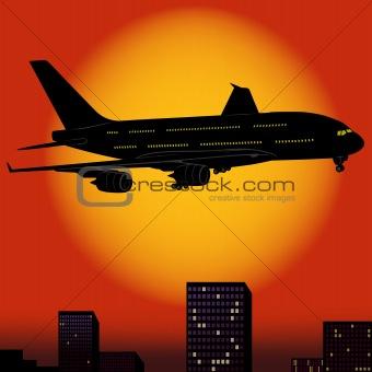 Aeroplane Silhouette 04