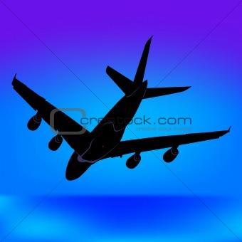 Aeroplane Silhouette 06