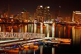 After sunset, San Diego, Ca, skyline