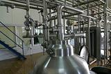 pipes valves and pressure tank in factory