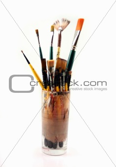 PaintBrushes on a white Background