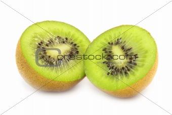 Sliced Open Kiwi (isolated on white)