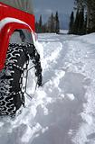 Tire in Deep Snow