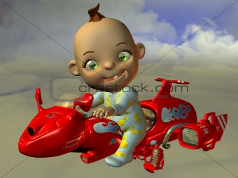 Sky Bike and Toon Baby