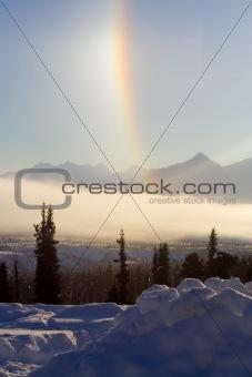 Alaska Scenery with Rainbow