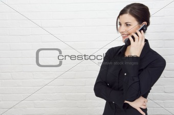 Attractive Businesswoman on mobile phone