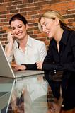 Women ordering on line
