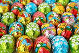 Easter eggs a background
