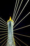 Detail of suspension bridge