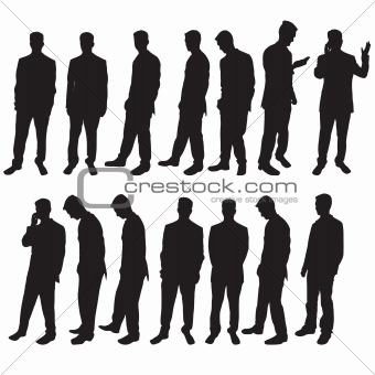 Business man silhoutettes