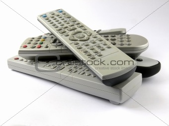 remotes pile