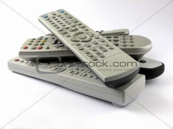 remotes pile