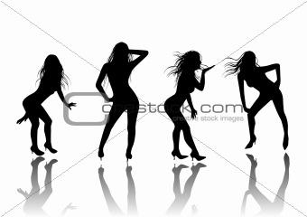 Four Sexy Dancers