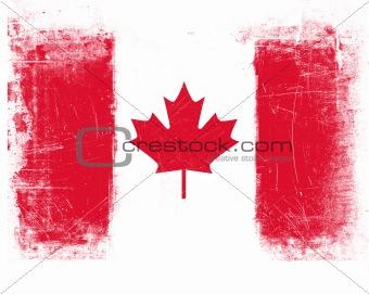 Canada Flag w/Grunge Effect