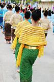 Women in traditional Thai dress