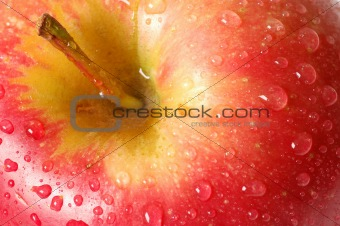 Apple with Waterdrops