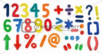 Alphabet - Digits and symbols
