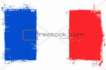 France Flag w/Grunge Effect