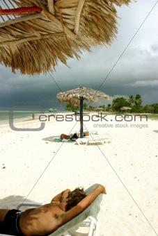 Beach of cuba