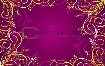 Background with a golden ornament.