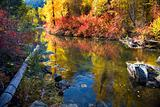 Fall Colors Rocks Wenatchee River Stevens Pass Leavenworth Washi
