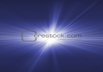 Fantastic explosion blue