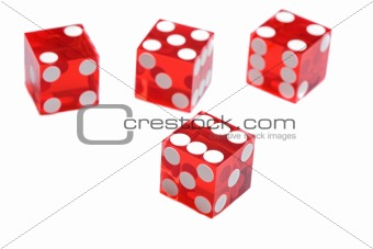 Four red dices