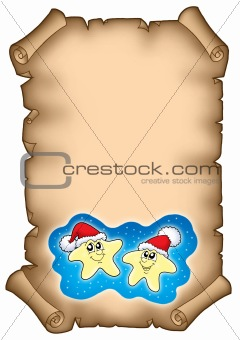 Christmas parchment with stars