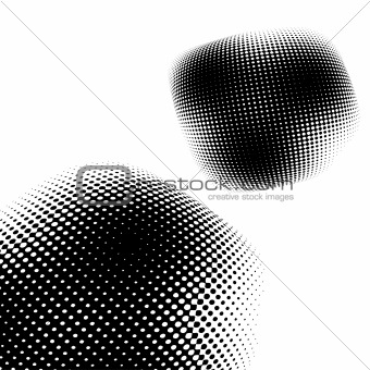 Abstract halftone background. Vector