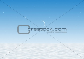 Blue background with moon