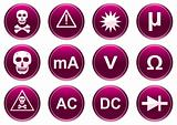 Gadget icons set. White - purple palette.
