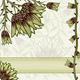 Ornate floral background with space for text
