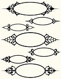 Seven Oval Frames with Flourishes
