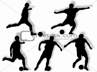 Football players silhouette