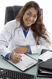 smiling adult doctor in clinic