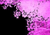 floral style backgrounds frame