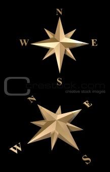 3d gold compass