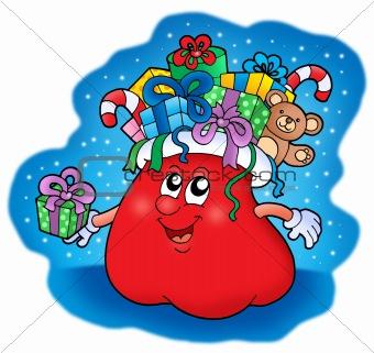Santas bag with gifts