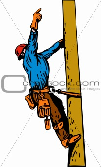 Power line worker