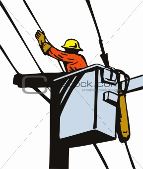 Power line worker