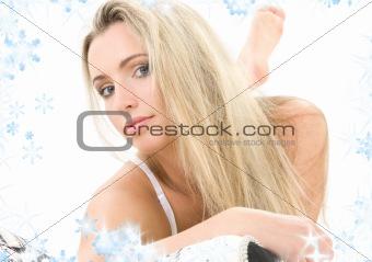 laying blonde
