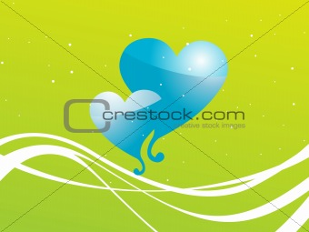 abstract valentine heart series7, design10