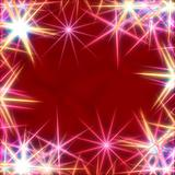 white stars over red background