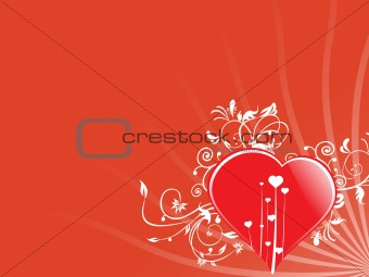 abstract valentine heart series7, design37