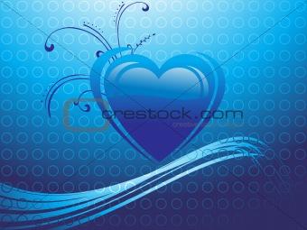 abstract valentine heart series7, design4