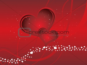 abstract valentine heart series7, design9